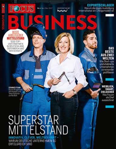 zeitconcept erhält Auszeichnung TOP ARBEITGEBER MITTELSTAND 2018 von FOCUS-Business