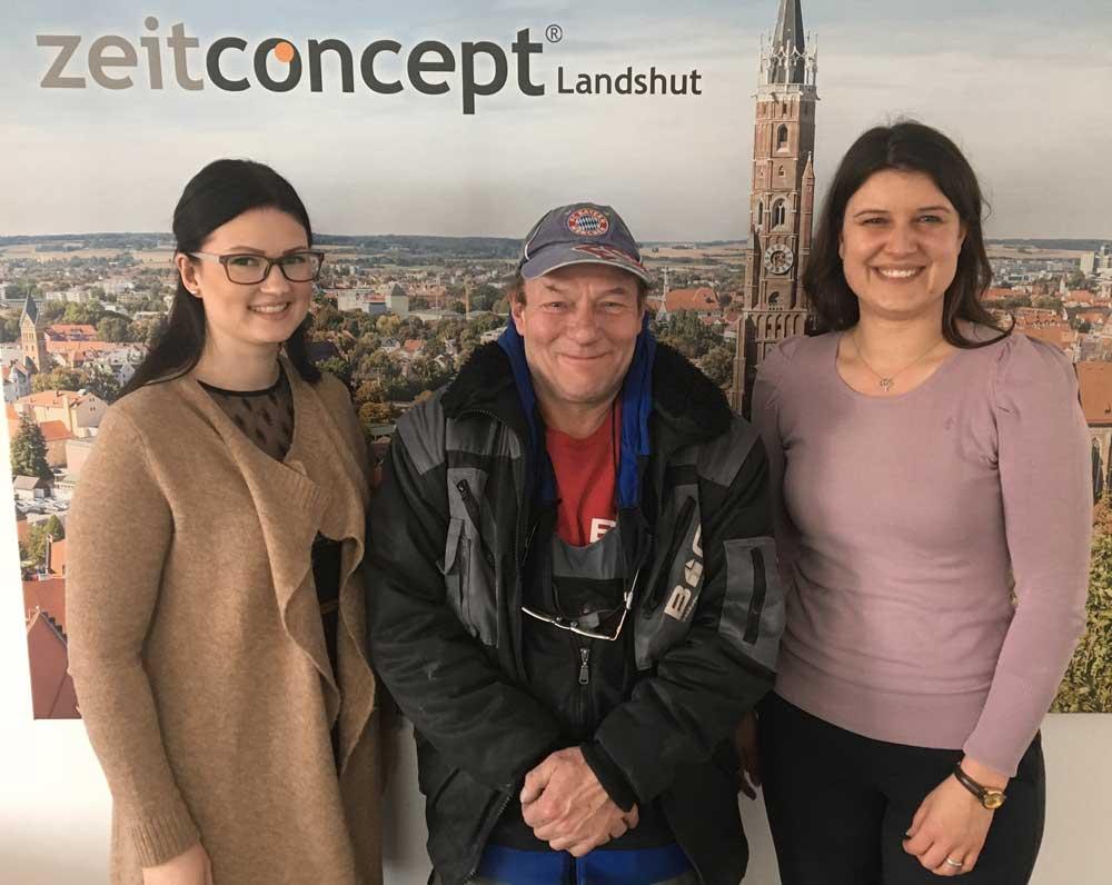 zeitconcept Mitarbeiter aus Landshut wird von Kunden übernommen