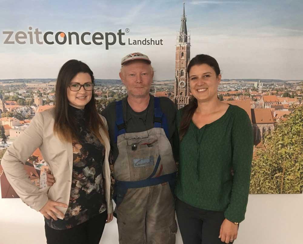 zeitconcept Mitarbeiter aus Landshut wird von unserem Kunden übernommen