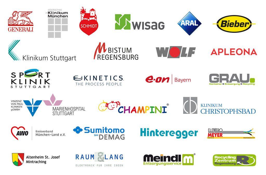 Unsere Kunden, mit denen wir im Bereich Zeitarbeit und Personalvermittlung zusammenarbeiten